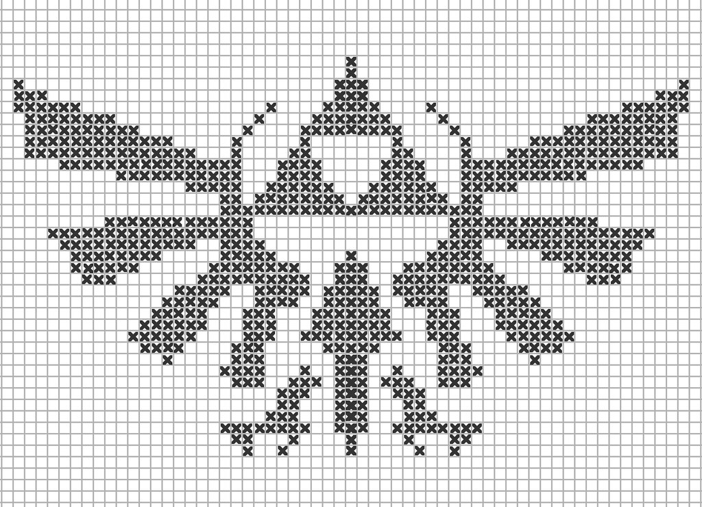 Legend Of Zelda Knitting Pattern : Zelda triforce knitting scheme i am asking my mother to
