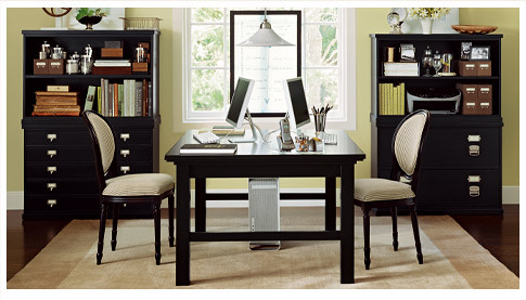 Home Office Double Green  by Pottery Barn  Lilia  Flickr