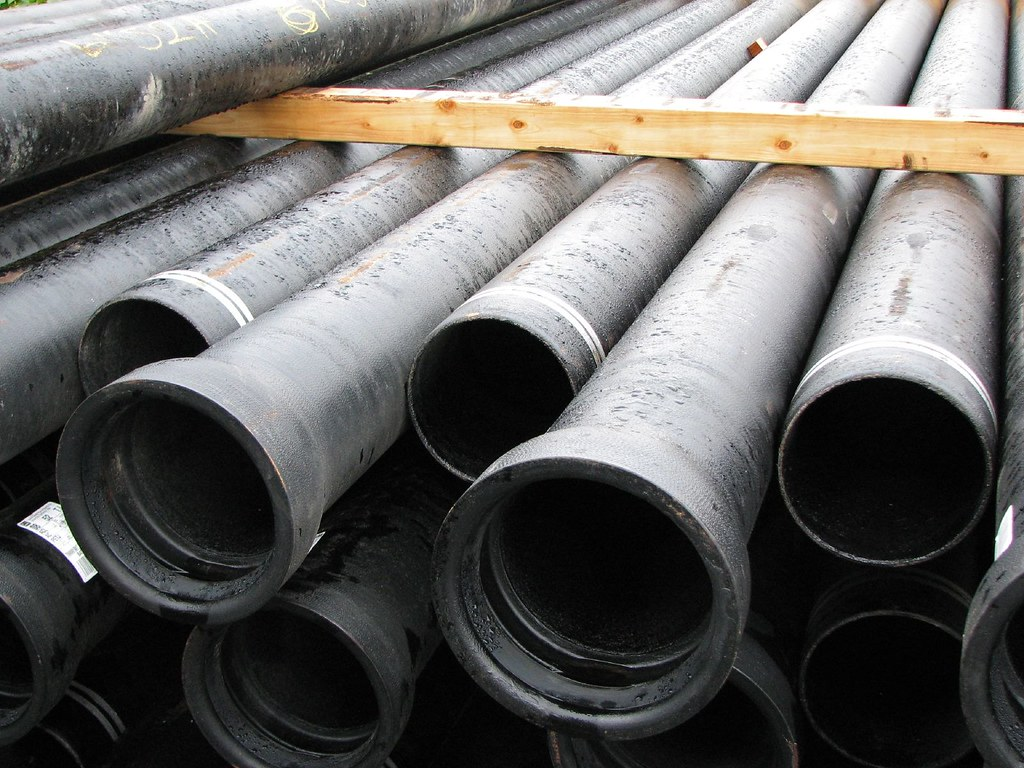 Ductile iron pipe water main replacement nd ave n