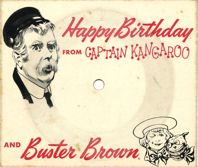 Captain Kangaroo Buster Brown Birthday Card Record