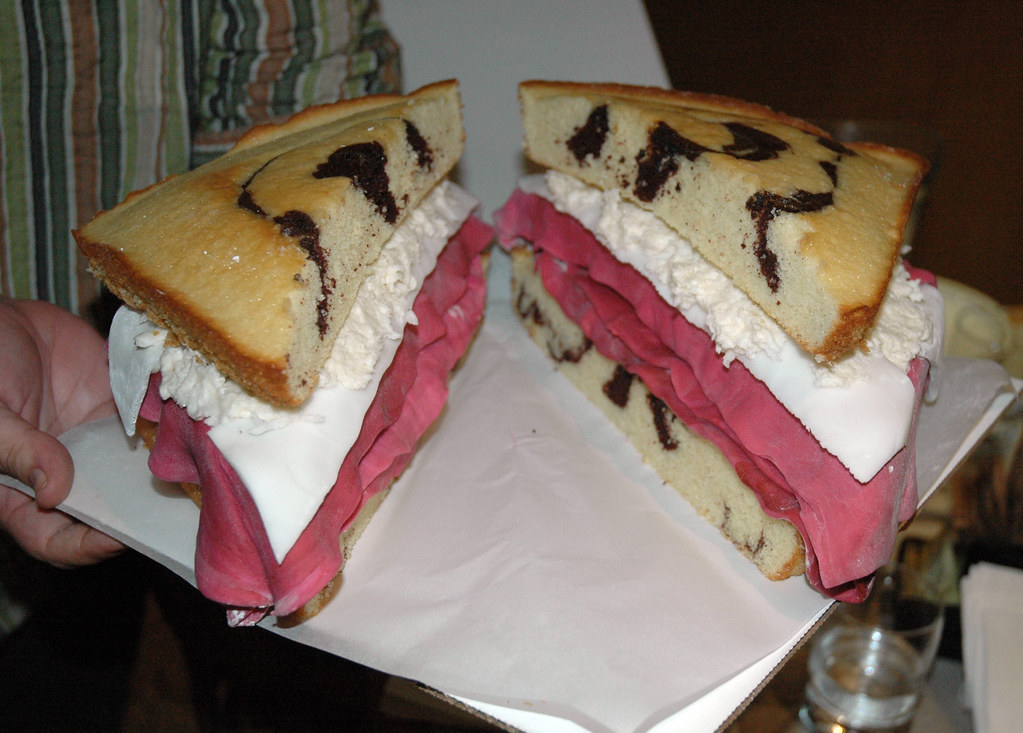 Amazing Reuben Sandwich Cake 1 Last Night For My Birthday My Fri Flickr Funny Birthday Cards Online Sheoxdamsfinfo