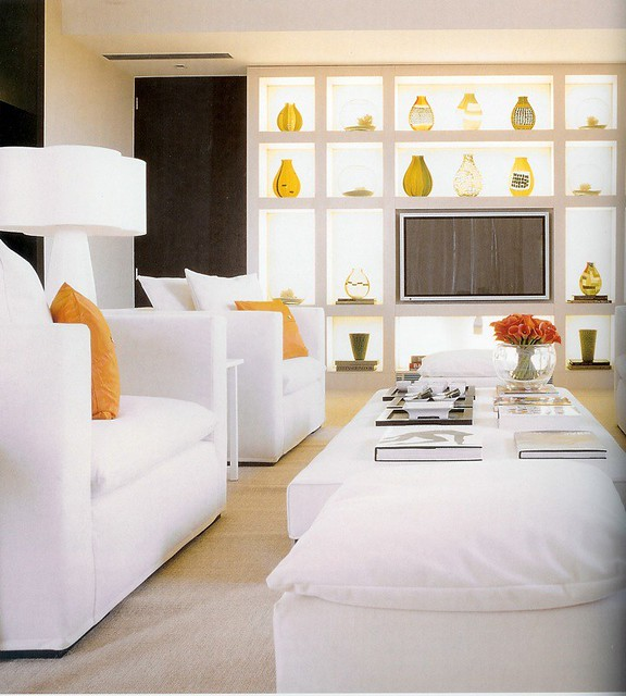 KELLY HOPPEN living room millwork inspired by their Flickr