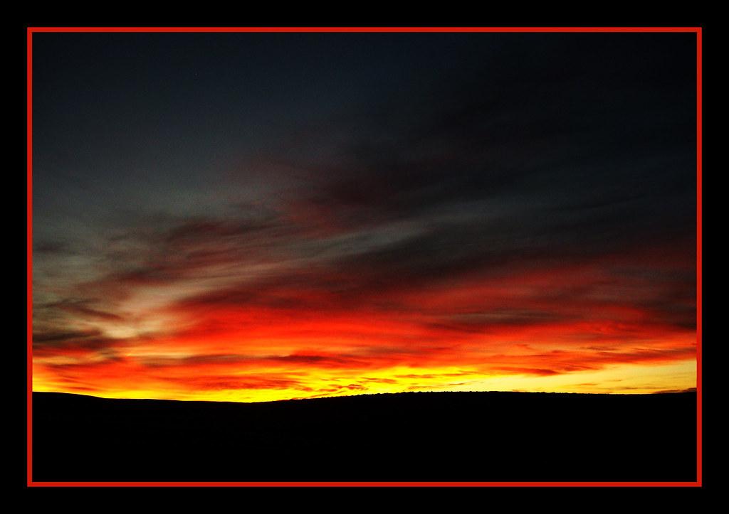 fiery glow burning sunset - photo #16