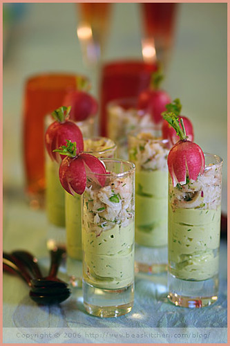 Avocado Mousse, Radish and Crab Mise-en-bouche | by La tartine gourmande