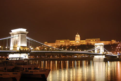 The Szechenyi Chain Bridge and Royal Palace (Buda Castle), Budapest, Hungary | by Paul Mannix