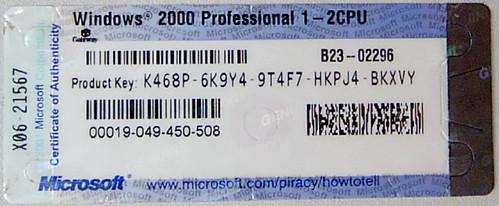 Microsoft Windows 2000 Professional (edited)   This ...