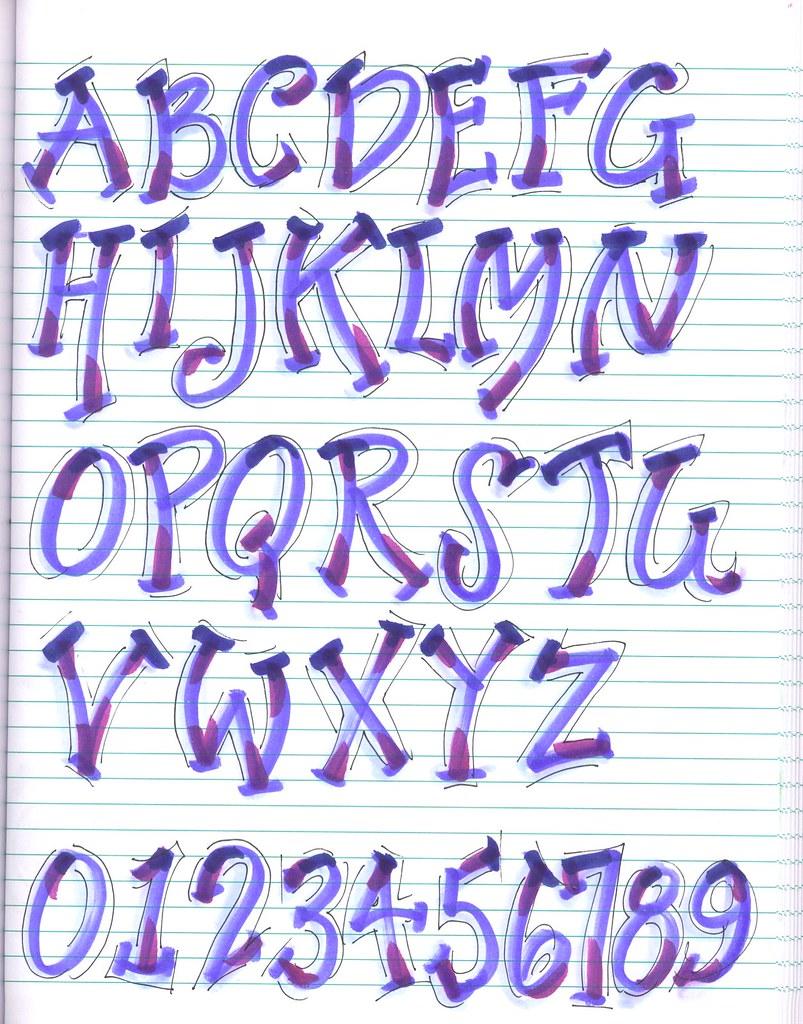 New Alphabet | Creative Lettering, Brush Lettering ...  Creative Lettering Styles
