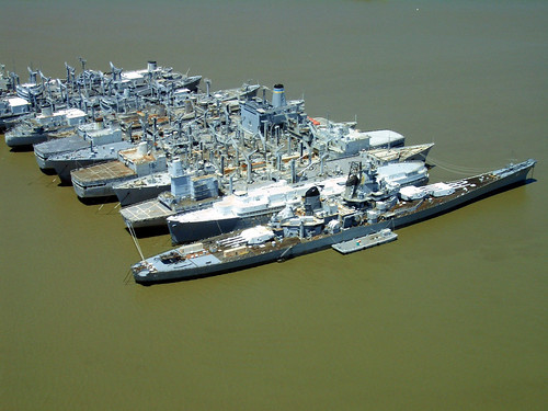 Iowa >> USS Iowa and Mothball fleet, Suisun Bay, California | Flickr