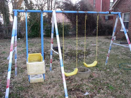 Back Yard Swing Set Vintage Early 1980 S In Decent