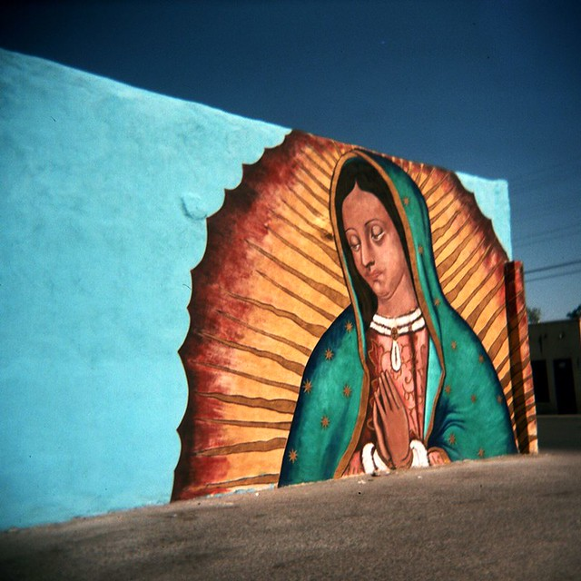 Guadalupe Mural By Mario Colin This Mural Is At The