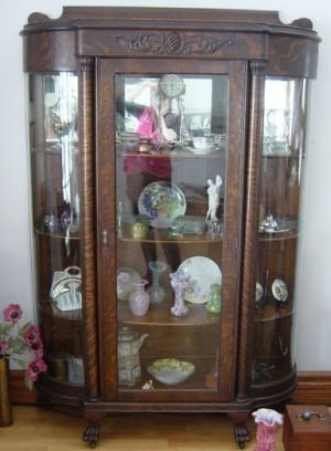 Bow front china cabinet for sale antique bow front for Cheap white cabinets sale