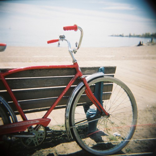 my red bike at the beach | by spDuchamp