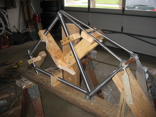 how to make bicycle frame at home