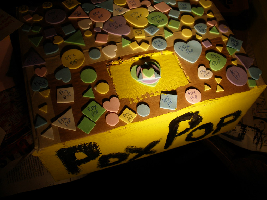 The Candy Box | I thought the little foam pieces looked like