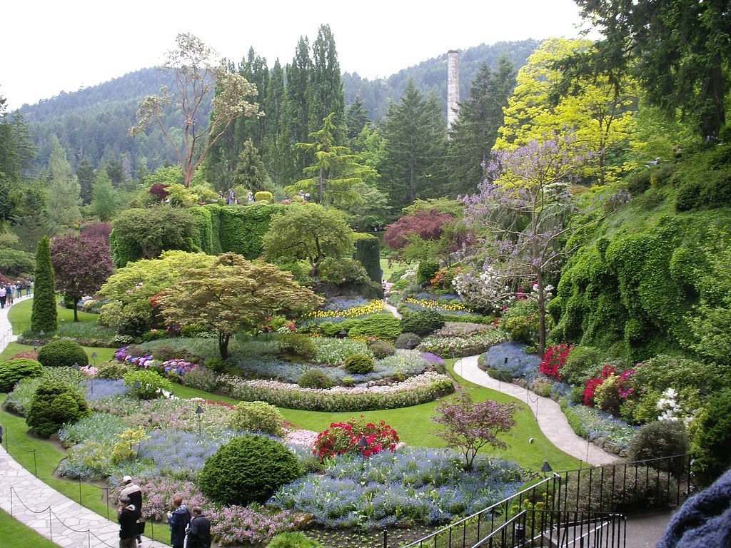 Butchart gardens victoria b c here is the famous for Amapola jardin de infantes palermo