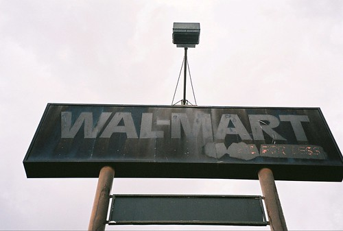 Blacked out Wal-Mart sign | by Brave New Films