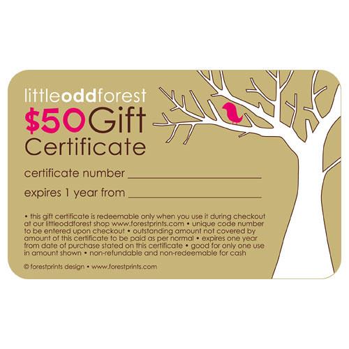 $50 gift certificate front | Lynda Lye | Flickr