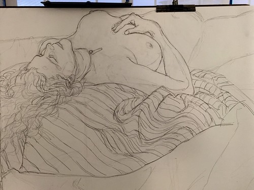 drawing of Shannon Kringen laying down