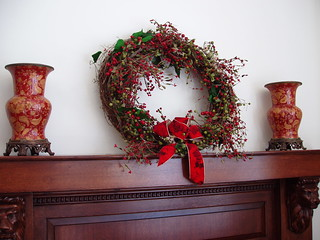 Wreath Over Fireplace | by thomas ford memorial library