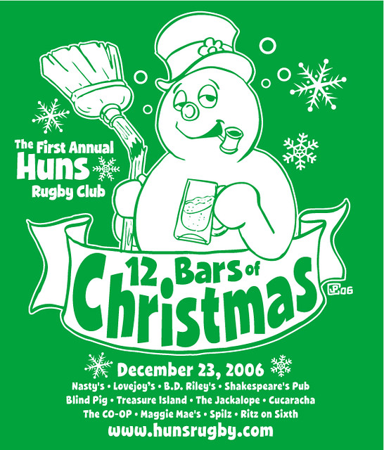 huns rfc 12 bars of christmas by manly art