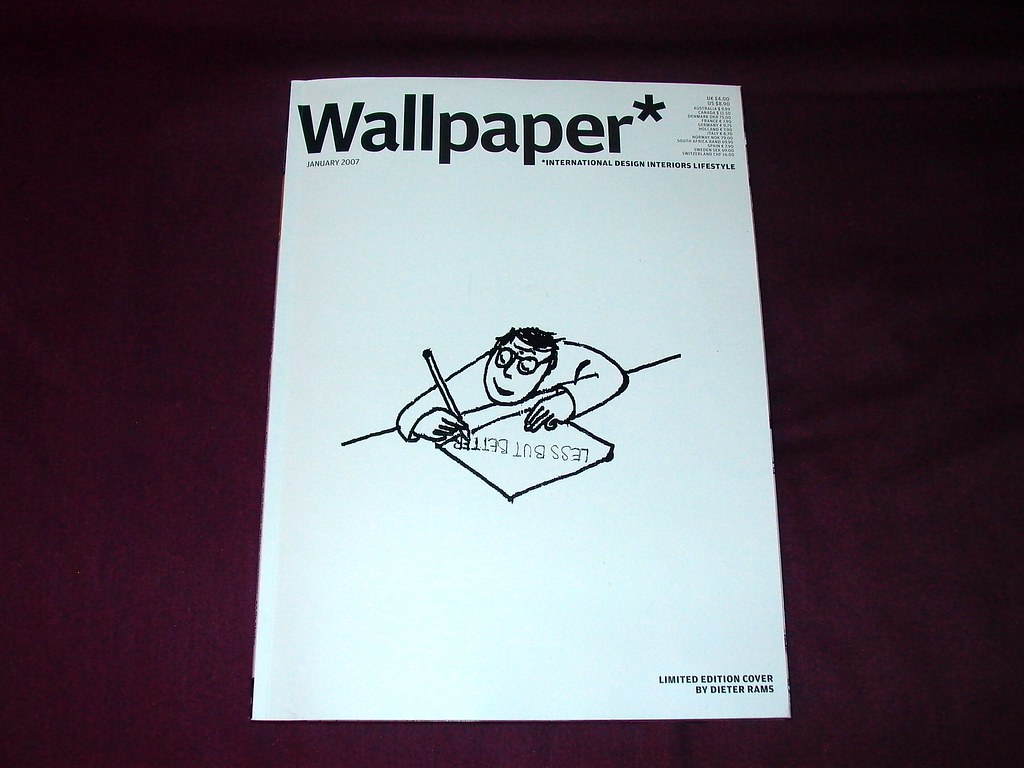 Limited Edition Wallpaper Magazine Cover By Dieter Rams