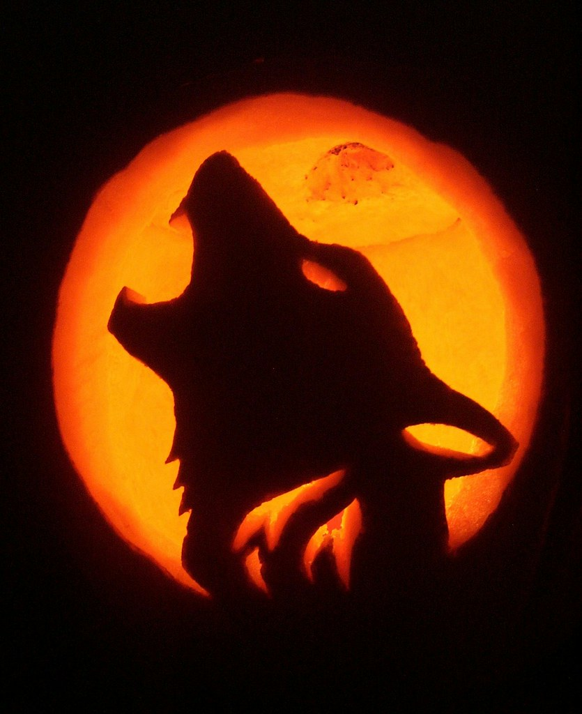 Wolf pumpkin the best i have ever carved