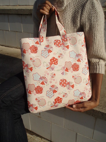 Hand Tote - Mums and Umes on water | by michy moo