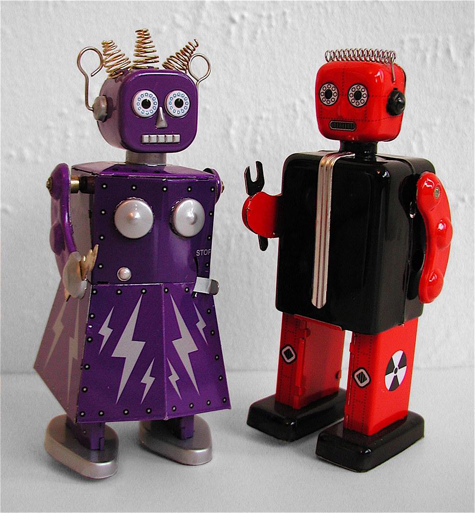 Robo Couple Schylling S Electra Robot Girl Proton Robot Flickr