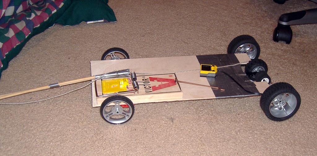 Mouse Trap Car | OK, it's actually a rat trap. Sue me. It ...