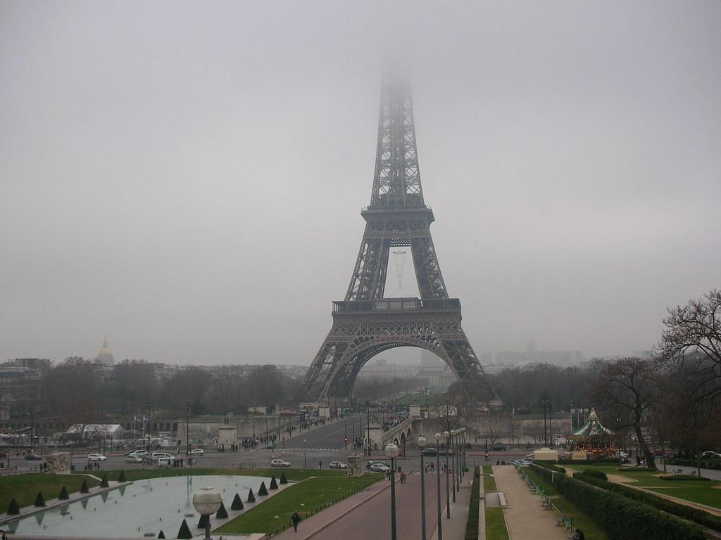 Christmas Eiffel Tower Decor