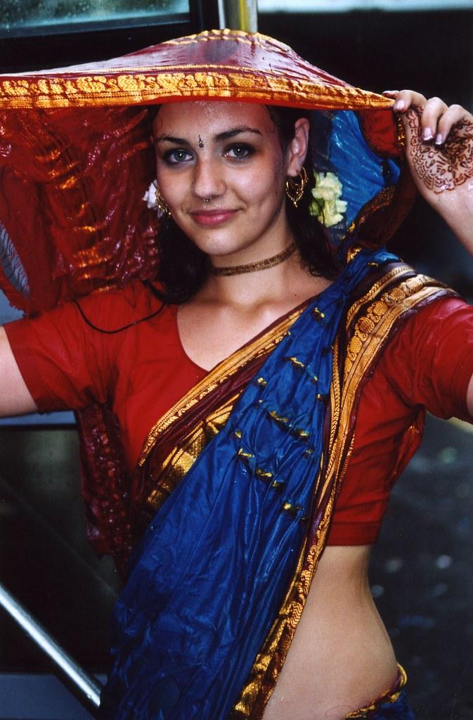 Monsoon Girl  Girl At The Hare Krishna Festival Nyc -2812