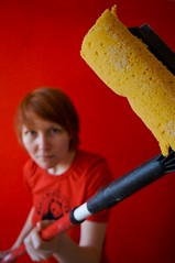 Red cleaning lady | by Teppo