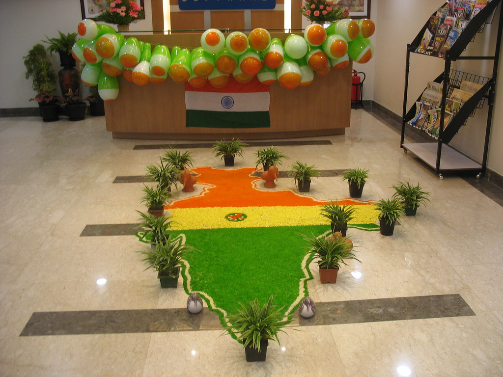 decoration on indian independence day 15 aug decoration