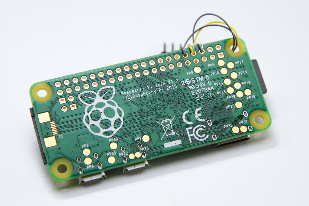 Raspberry Pi Zero, back side