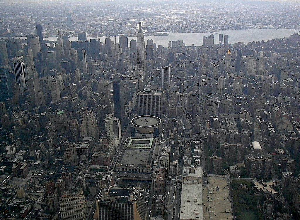 Madison square garden from above aerial view of madison - Madison square garden to times square ...