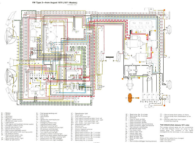 1971 vw wiring diagram colored 1971 gto wiring diagram #13