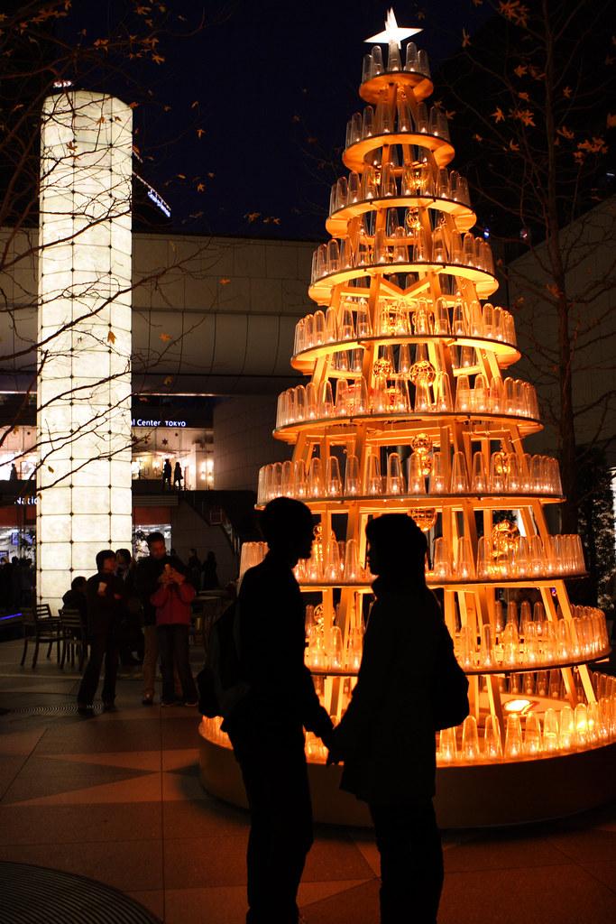 pareja en navidad en Japon