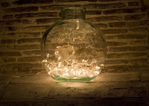 Fairy Lights In Glass Vase