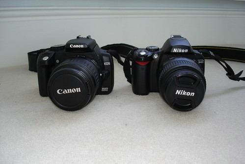 Nikon D40 & Canon 350d (Digital Rebel XT) | by Ian Hampton