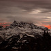 Bichromatic sunset: Les Dents du midi
