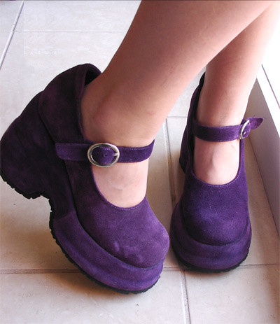 Purple Suede Platform Shoes | Blogged: poppalina.typepad.com… | Flickr