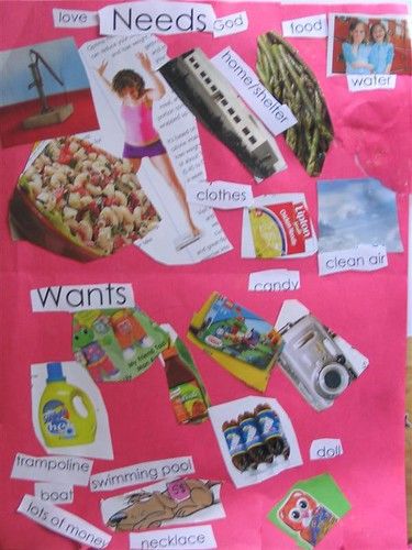Emma Ss Wants Vs Needs Collage A Written Oral Or