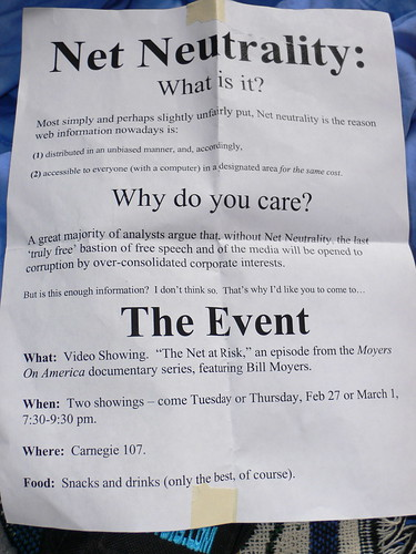 Mysterious net neutrality flyer! | by skyfaller