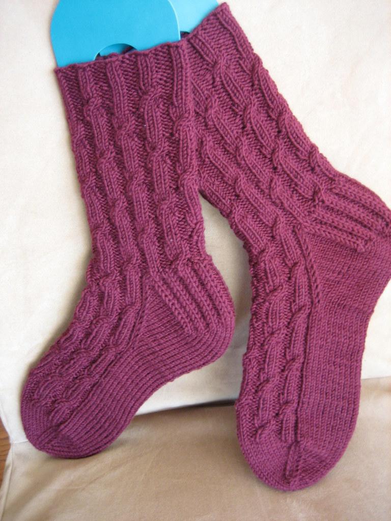 Knitting Pattern For Diabetic Socks : Sugar-Free Cabernet Socks Pattern: Karens Sugar-Free ...