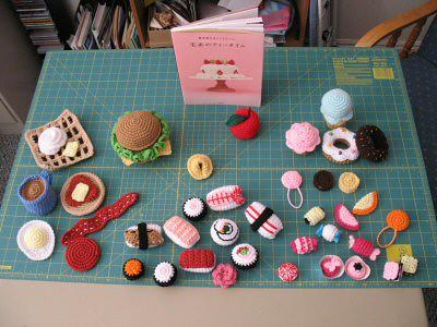 Amigurumi Food : Amigurumi food birds eye view of all the food together