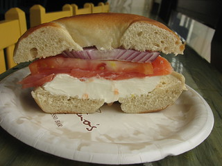 Bagel with Cream Cheese, Lox, Tomato and Onion | by iirraa