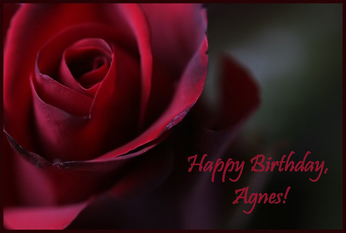 Happy Birthday Agnes Belated Due To My Modem