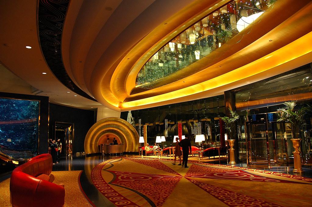 The burj al arab the main entrance of the hotel to the for Burj al khalifa hotel rooms