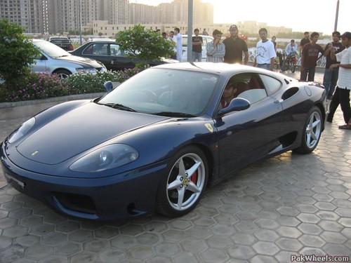 Etonnant ... Hot Cars In Pakistan, Ferrari 360 At Sea View   By 123surfer