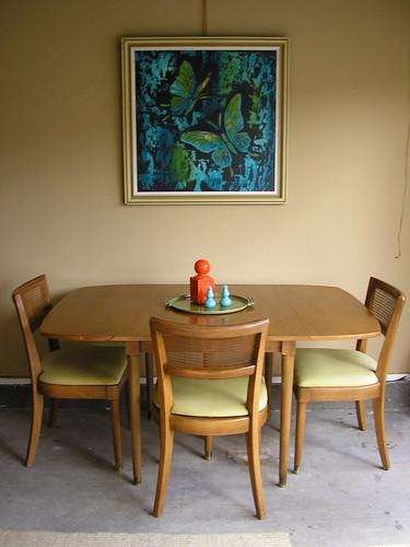 Painting Dining Set White